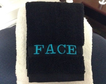 Black washcloths for removing your makeup, 12 x 12 Luxury 100% Cotton, Maxium Softness and Absorbency, Machine washable FREE SHIPPING