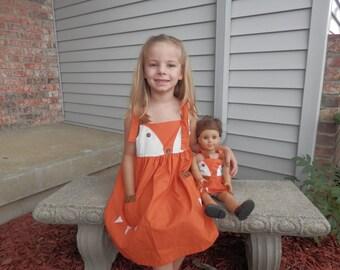 Girl & Doll Matching Outfits Fox Dress