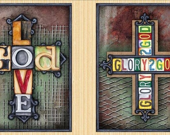 Quilting Treasures, Glory Panel 24 inches wide Love God cotton fabric