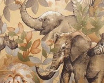 Kendi Safari Tea cotton fabric, Alexander Henry