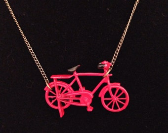 Red Bike Necklace