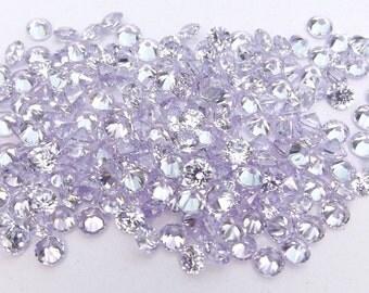 500pcs.Wholesale Lavender Cubic zirconia CZ Round cut 1.50mm. loose gemstones.