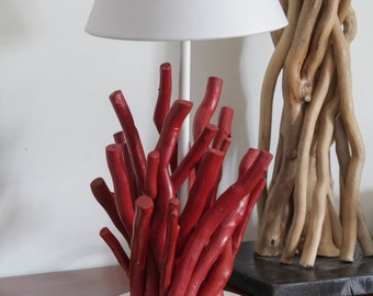 Red Coral Driftwood Lamp