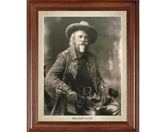 William F. Cody (Buffalo Bill) portrait; 16x20 print on premium heavy photo paper
