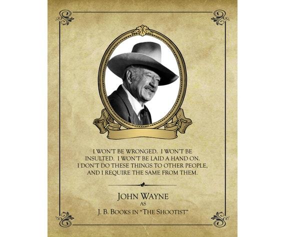 John Wayne As J B Books The Shootist 16x20 Print I
