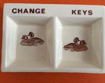 Men's Porcelain Dresser Dish for Change and Keys