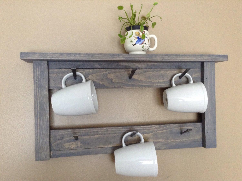 Coffee mug rack coffee mug holder coffee cup holder for Coffee mug display rack