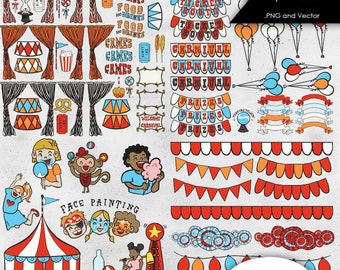 Carnival Clip Art .PNG files and Vector files - 102-Piece Pack
