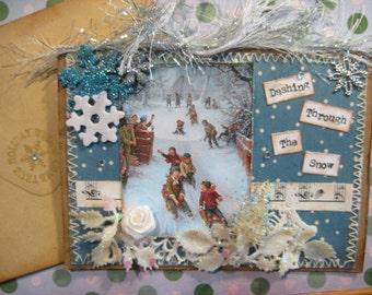Christmas Card,  Dashing Through The Snow,  Vintage Style