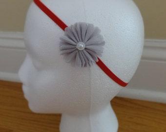 Dainty Organza Flower Headband
