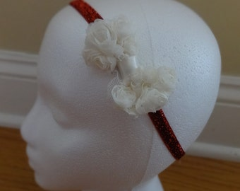 Rose Bow Organza Headband