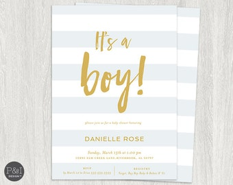 It's a Boy! Baby Shower Invitation/ DIY/ Customized Printable