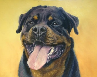 pet portrait commission bespoke Custom painted from your photograph by award winning artist