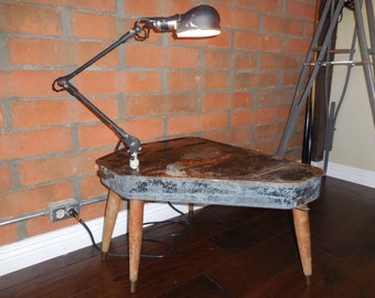 Vintage Kerosene Tank End Table