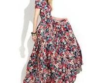 Party Long Womens Floral Maxi Dress UK Exclusive S M L XL Wedding Spring Dresses Rose Bouquet Eid