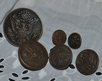 Vintage Military Button American Button Co