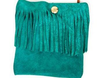 Sweet little suede fringed shoulder bag