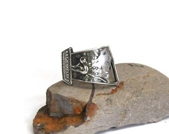 cat ring, spoon ring, feline ring, oosterhout ring