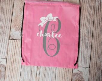 Personalized Diaper Bag/ Drawstring Bag Tote/ Baby Bag/ Toddler Bag/ Beach Bag