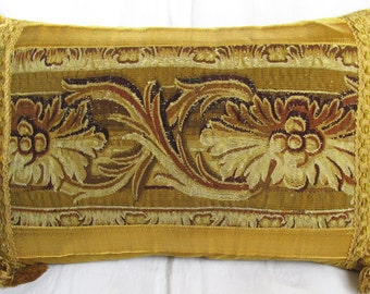 Antique Gobelins Tapestry Pillow - Cushion - c.1750