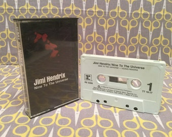 Nine to the Universe by Jimi Hendrix Cassette Tape rock guitar