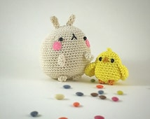 Molang and piu piu amigurumi, MADE TO ORDER - Crochet Amigurumi - Kawaii amigurumi -child gift - kawaii crochet plush