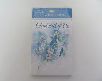 Hallmark Thank you Card NIP 8 Cards with Envelopes