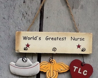 Nurse ornament, nurse sign, nurse wall sign, nurse gift tag, medical ornament, hospital ornament, doctor ornament , nurse grab bag