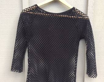 Goth Punk Layering Top with Raw Hems
