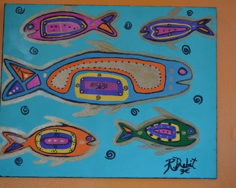 "Acrylic Painting of ""Spiritual Fish"""