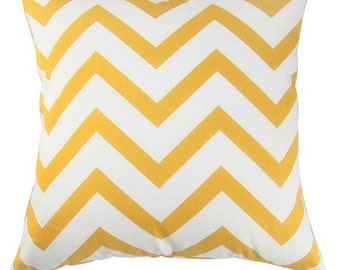 Yellow Chevron Pillow Cover