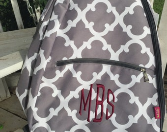 Personalized Tennis Bag, Tennis Back Pack, Monogrammed Tennis Bag, Monogrammed Tennis Book Bag, Tennis, Tennis Racket Bag, Sports Bag,