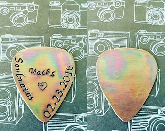 Copper Antique Guitar Pick