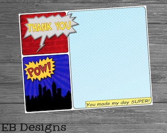 Superhero Comic Thank You Note