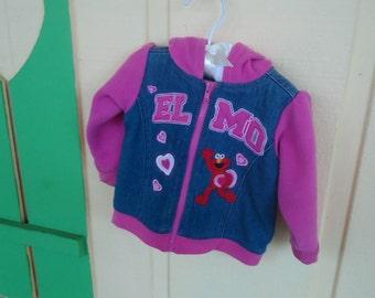 Elmo 18 Mo Old Girls Pink, Jean Jacket.