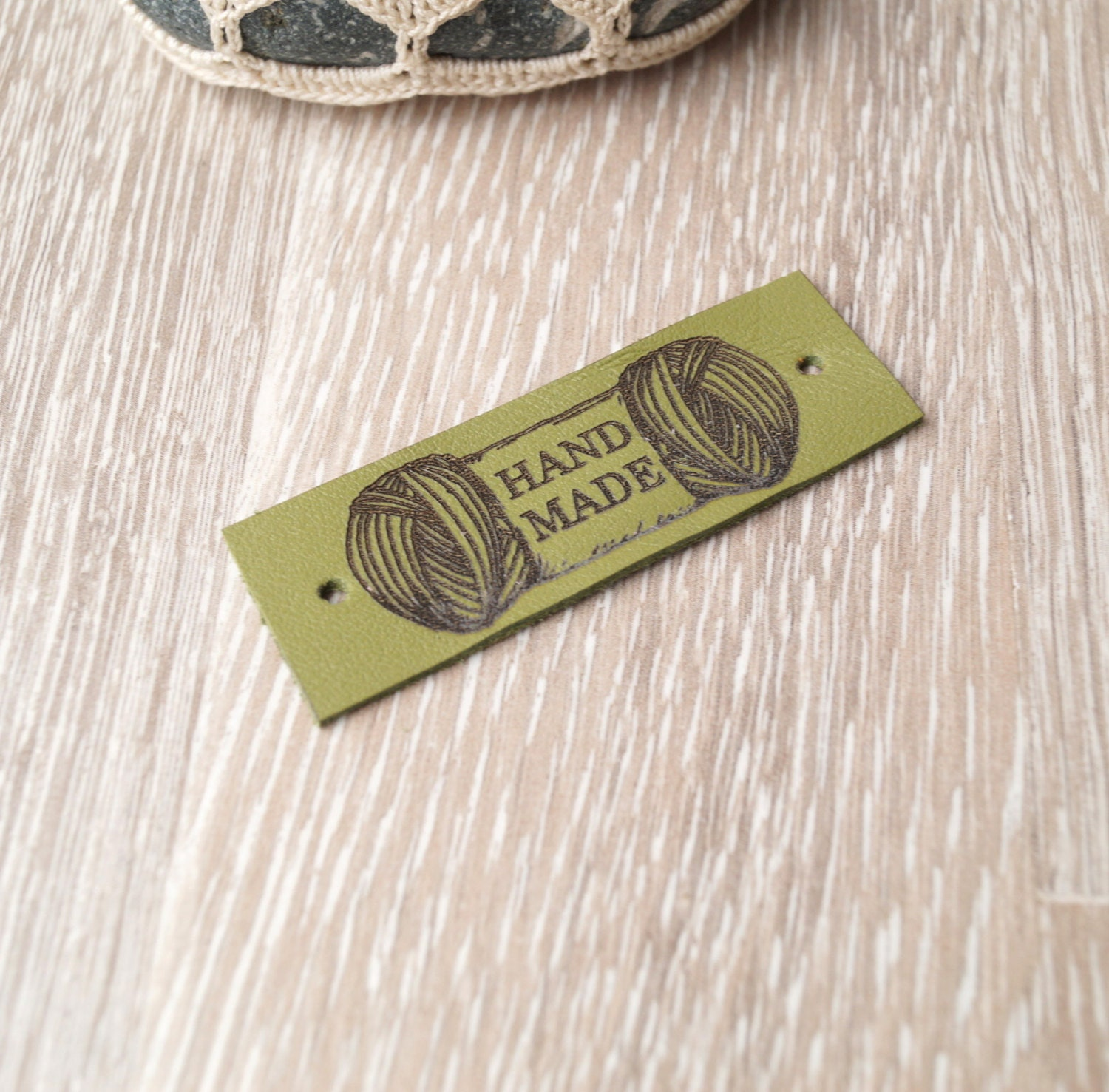 Knitting Labels Canada : Leather knitting labels custom clothing