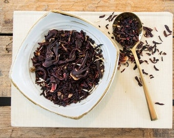 Hibiscus Tea / Hibiscus Herbal Tea / EGYPTIAN HIBISCUS Blossom Herbal Tea