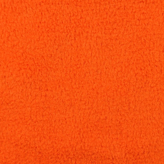 items similar to orange fleece fabric by the yard on etsy. Black Bedroom Furniture Sets. Home Design Ideas