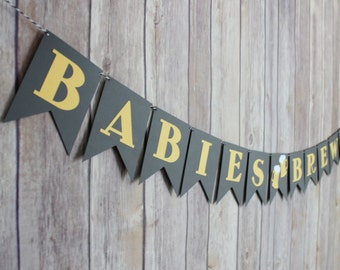 Babies Brewing Banner, Baby Shower Banner, Babies Brewing Baby Shower Banner, Baby Brewing Shower Decorations, Twin Baby Shower Decorations