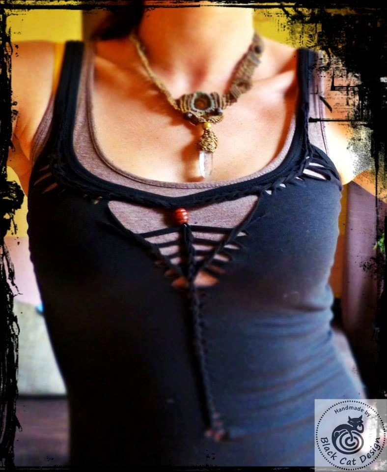 A Great Alternative To Homestyler: Tribal Top Ankh Alternative Cutout Festival Top