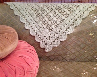 Pearly Seafoam Mint Baby Afghan