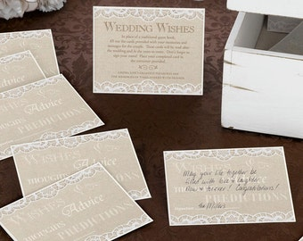 Wedding Guest Book Signing Cards Alternative Singing Guest Wishes Book or Anniversary Signing Book For Guests