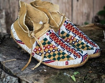 Cheyenne beaded moccasins