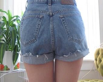 Vintage Calvin Klein High Waisted Denim Shorts