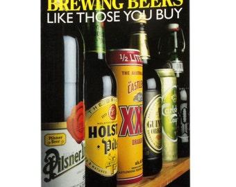 Brewing Beers, like those you buy, recipe book, FREEPOST UK,