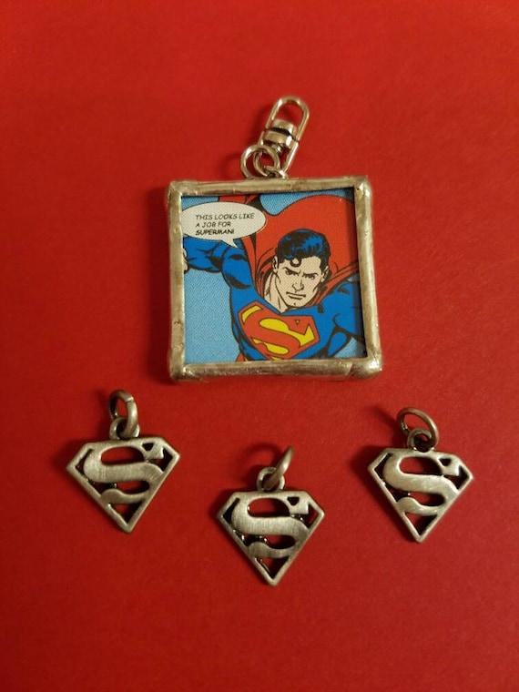 4 superman charms dc comics of steel