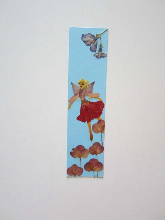 Handmade unique bookmark quot my view of the world quot decorated with dried