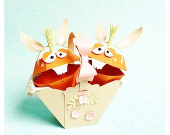 """plotterdateien - gift set """"basket with carrot"""" v1"""