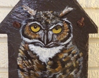 Great Horned Owl Slate