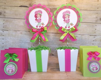 Strawberry Shortcake Inspired Centerpiece Strawberry Shortcake party favor